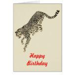 Salto del guepardo tarjeta de felicitación