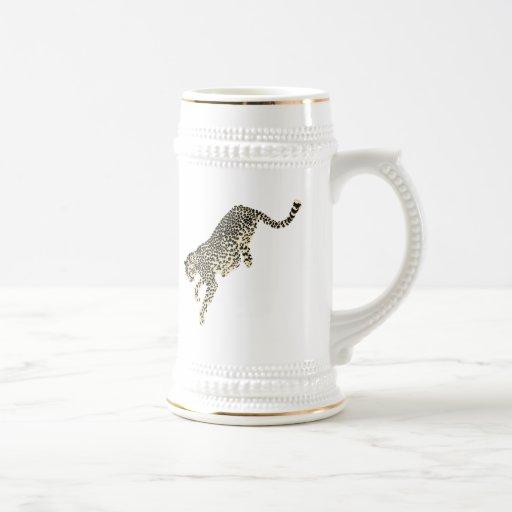 Salto del guepardo taza de café
