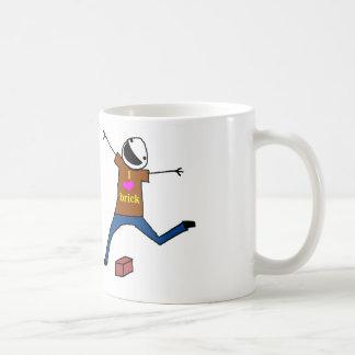 Salto del ladrillo taza de café