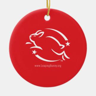 Salto del logotipo del conejito adorno redondo de cerámica