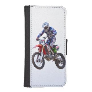 Salto del motocrós funda tipo billetera para iPhone 5