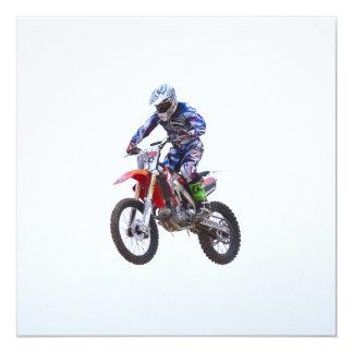 Salto del motocrós anuncio personalizado