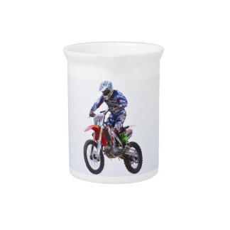 Salto del motocrós jarra para bebida