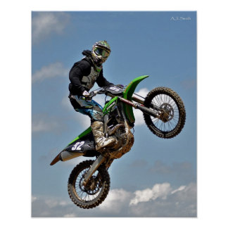 Salto del motocrós póster