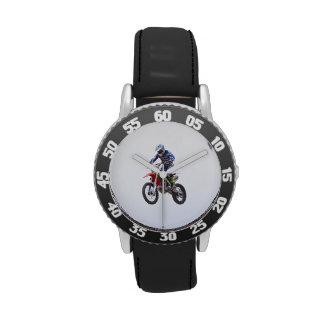 Salto del motocrós relojes de pulsera