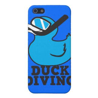 Salto del pato con la máscara de goma del duckie iPhone 5 funda