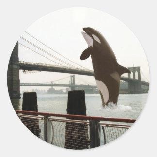 Salto del pegatina del puente de Brooklyn
