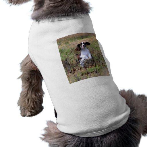 Salto del perro de aguas de saltador inglés playera sin mangas para perro