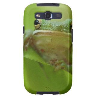 Salto del personalizar del verde de la rana arbóre samsung galaxy s3 protector