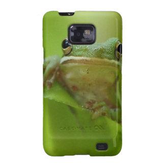 Salto del personalizar del verde de la rana arbóre galaxy SII carcasa