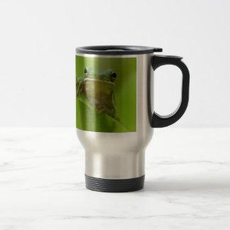 Salto del personalizar del verde de la rana arbóre tazas de café