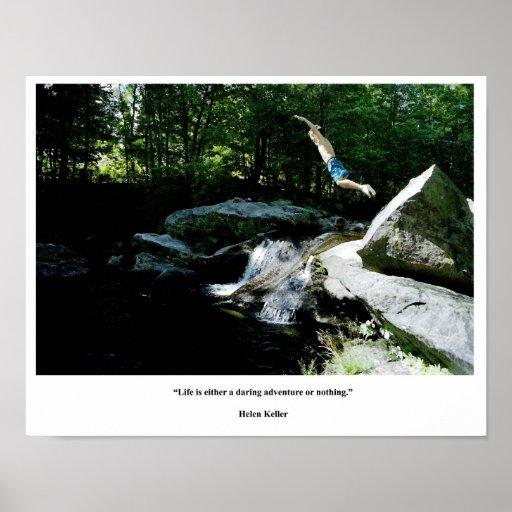 Salto del poster de la cita de Helen Keller de la Póster