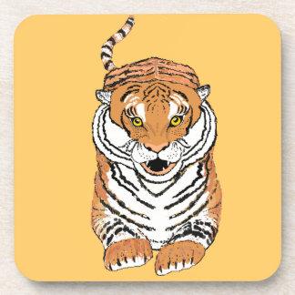 Salto del práctico de costa de la bebida del tigre posavasos de bebidas