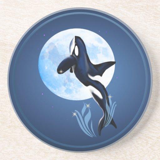 Salto del práctico de costa de la orca y de la Lun Posavasos Diseño