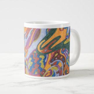 Salto del salto del conejito del conejito taza de café gigante