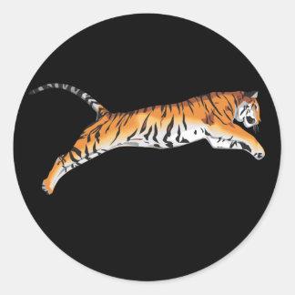 Salto del tigre pegatina redonda