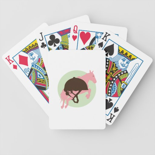 Salto ecuestre cartas de juego