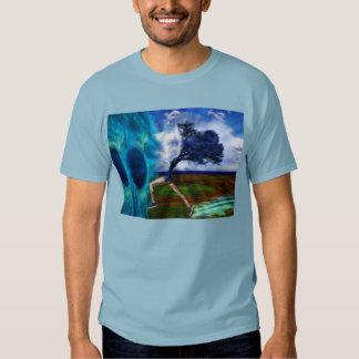 Salto en la dimensión azul camisas