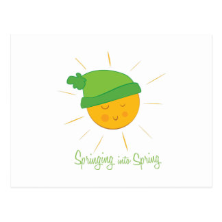 Salto en la primavera tarjeta postal