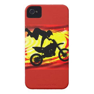 Salto explosivo del motocrós iPhone 4 Case-Mate cárcasa