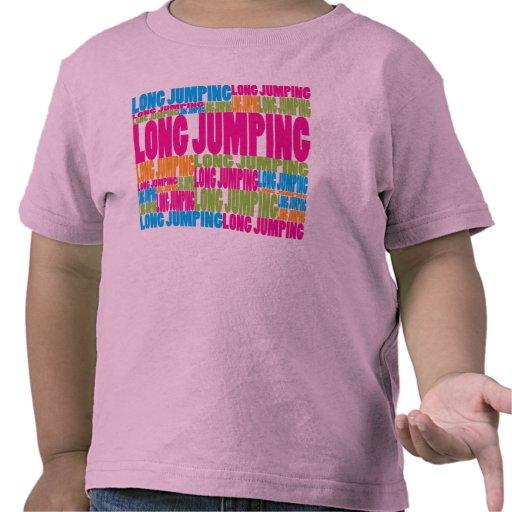 Salto largo colorido camiseta