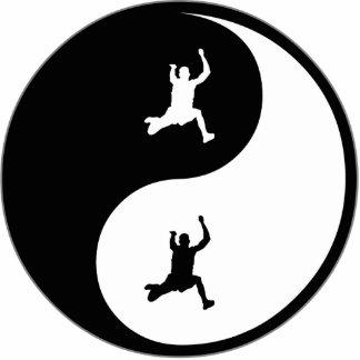 Salto largo de Yin Yang Escultura Fotográfica