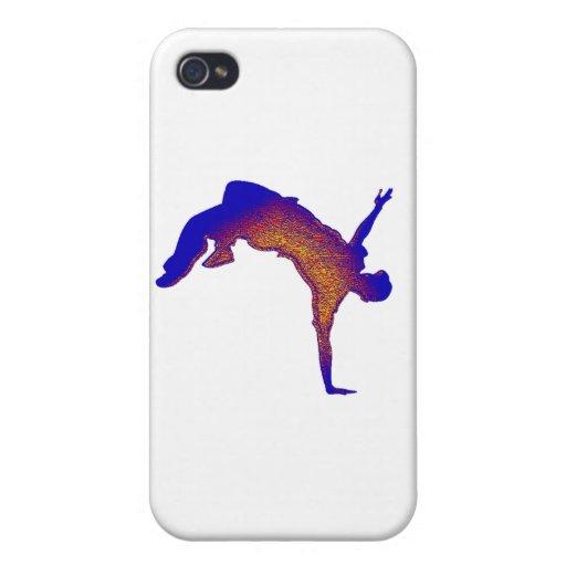 Salto mortal hacia atrás iPhone 4 carcasa