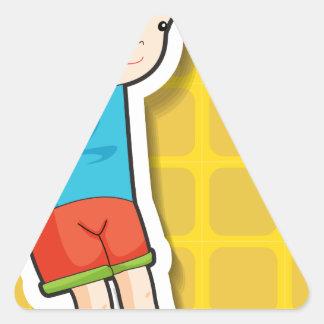 Salto Pegatina Triangular
