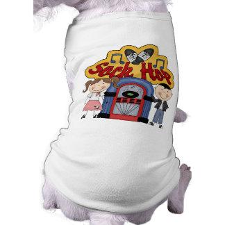 Salto retro del calcetín de los años 50 camisa de mascota