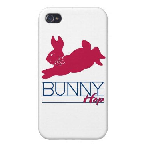 Salto rosado del conejito iPhone 4 fundas