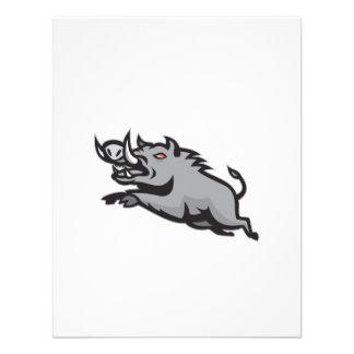 Salto salvaje del verraco del cerdo aislado comunicados personalizados