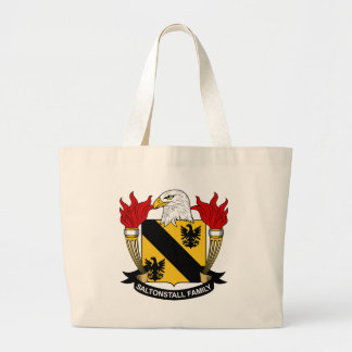 Saltonstall Family Crest Large Tote Bag