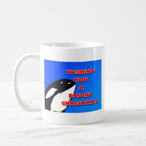Saltos del navidad de la orca al día de fiesta bri tazas