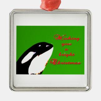 Saltos del navidad de la orca al día de fiesta ornamente de reyes
