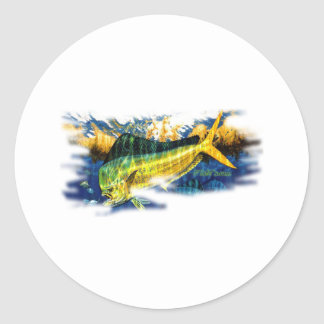 Saltwater Collection by FishTs.com Classic Round Sticker