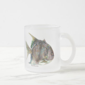 Saltwater Collection Frosted Glass Coffee Mug