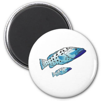 Saltwater Collection of Fish 2 Inch Round Magnet