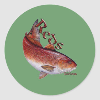Saltwater Collection of Fish Classic Round Sticker