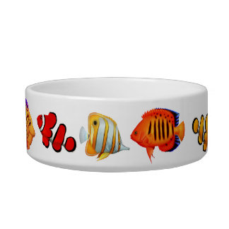 Saltwater Coral Reef Fish Pet Food Bowl