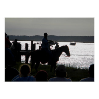 Saltwater Cowboy at 2010 Pony Swim on Chincoteague Poster