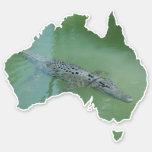 Saltwater Crocodile Croc Australia Shape Sticker