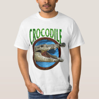Saltwater Crocodile T Shirt - White Only