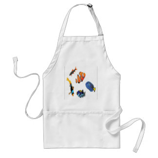 Saltwater fish design adult apron