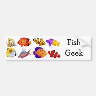 Saltwater Fish Geek Bumper Sticker