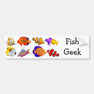 Saltwater Fish Geek Bumper Sticker Car Bumper Sticker