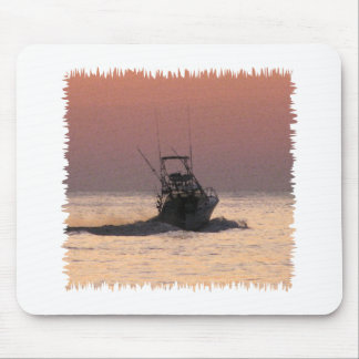 Saltwater Fishing Boat Mouse Pad