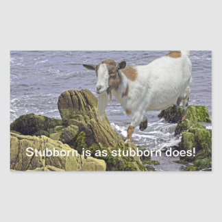 Saltwater Goat Children's Fantasy Rectangular Sticker