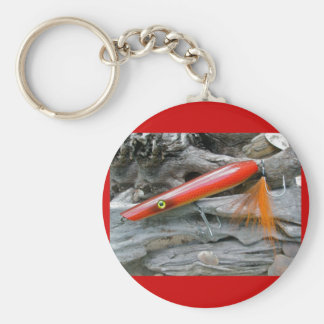 Saltwater Lure Popper Firebird Coordinating Items Basic Round Button Keychain