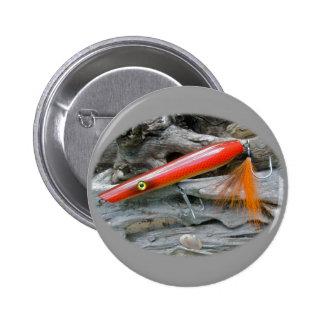 Saltwater Lure Popper Firebird Coordinating Items Pinback Buttons