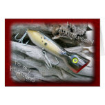 Saltwater Lure Popper Mullet Husband Anniversary Greeting Card